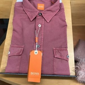 Hugo Boss shirt, slim fit, red